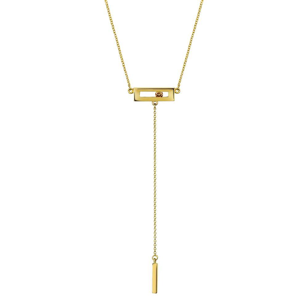 Champagne Slide Drop Necklace by Luke Rose