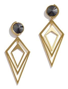 Sarah Magid Sarah Magid - Pointilist Orbital Hematite Earrings - Brass Gold Plated
