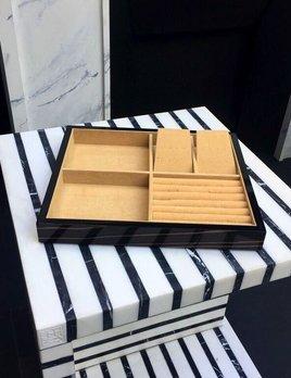BECKER MINTY - Ebony - Jewellery Tray (35x30x6cm) - Modular Jewellery and Accessory Tray