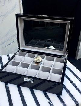 BECKER MINTY BECKER MINTY - Black Apricot - 10 Watch Box with Key Lock