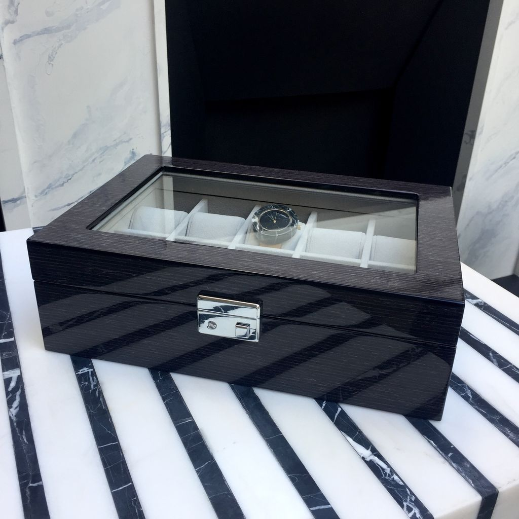 BECKER MINTY BECKER MINTY - Black Apricot - 10 Watch Box with Key Lock