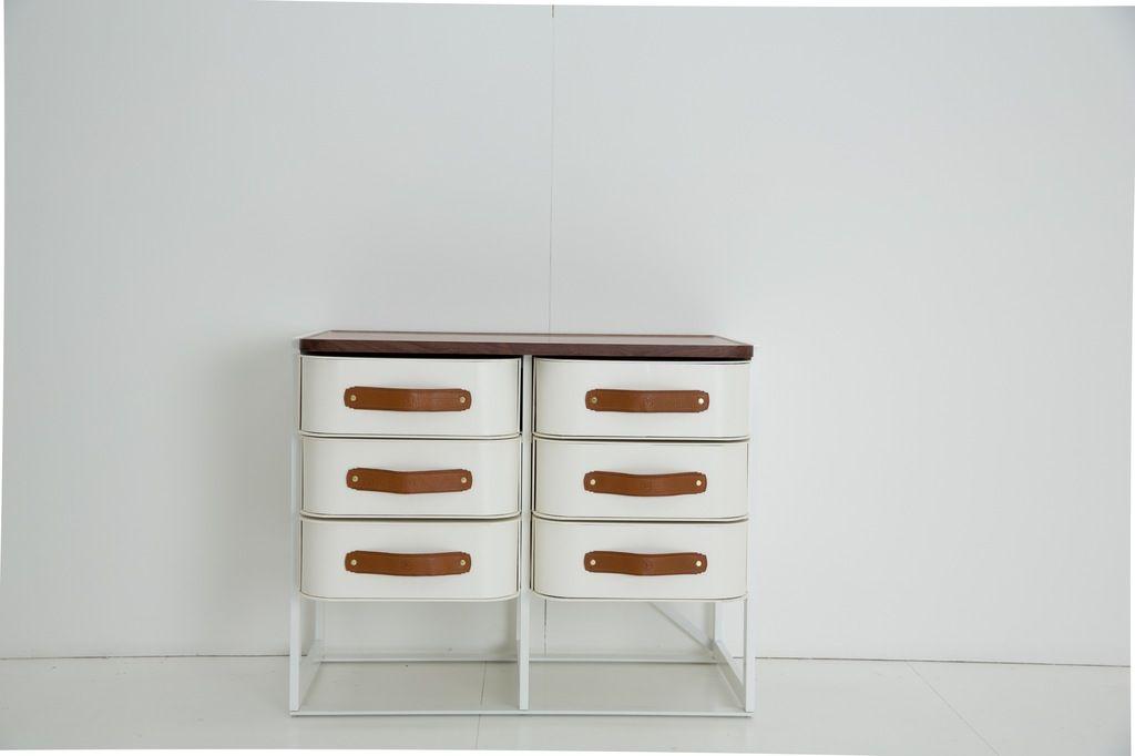 Sagitine Wardrobe Care - Shoe Box Stand Set  - 6 drawers - H70xW86xD55