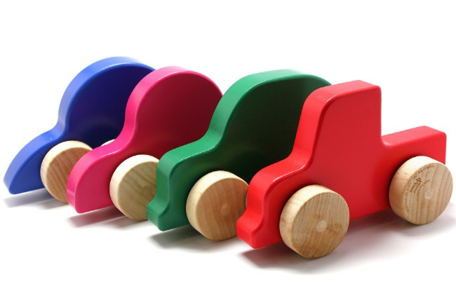 Manny & Simon Wooden Push Toy - various designs