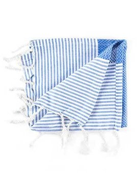 Hammam34 Hammam34 - Turkish Hand Towel -Shaken Not Stirred - Handloomed Pure Fine Cotton - Made in Turkey (as towels are hand loomed, there may be slight variations in actual size) 80cm x 40cm