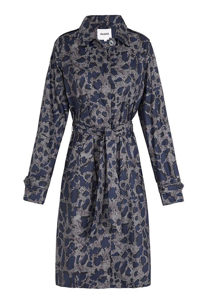 BECKER MINTY PAQME womens anywhere raincoat - Leopard Blue