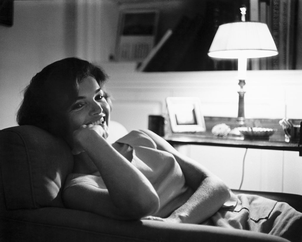 Mark Shaw Photography - Jackie Relaxing by Lamp