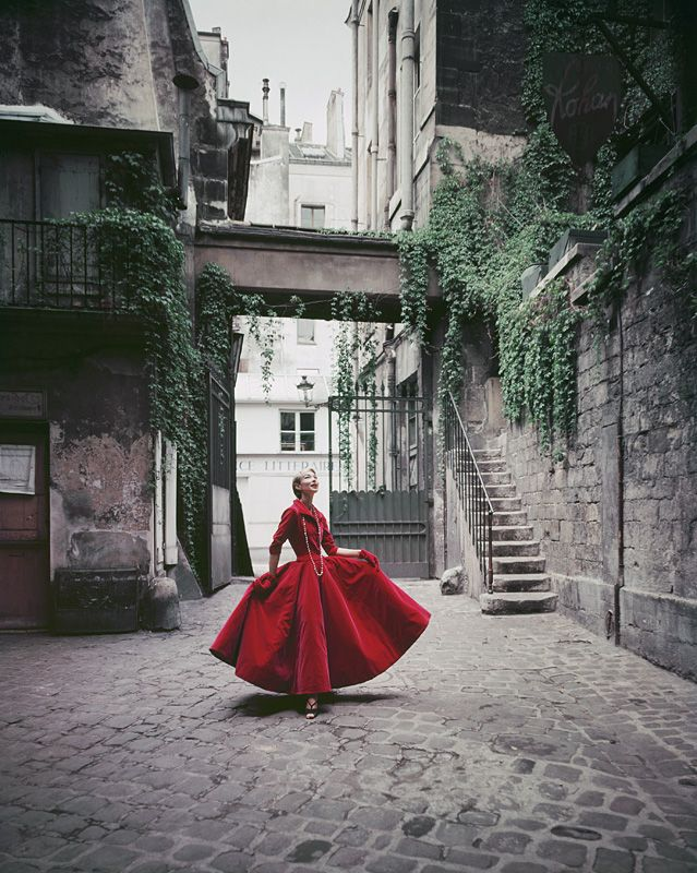 Mark Shaw Photography - Red Courtyard Dress