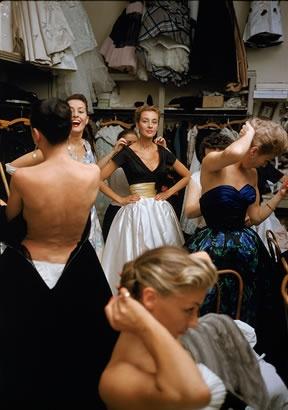 Mark Shaw Photography - Backstage Balmain Black Top White Skirt