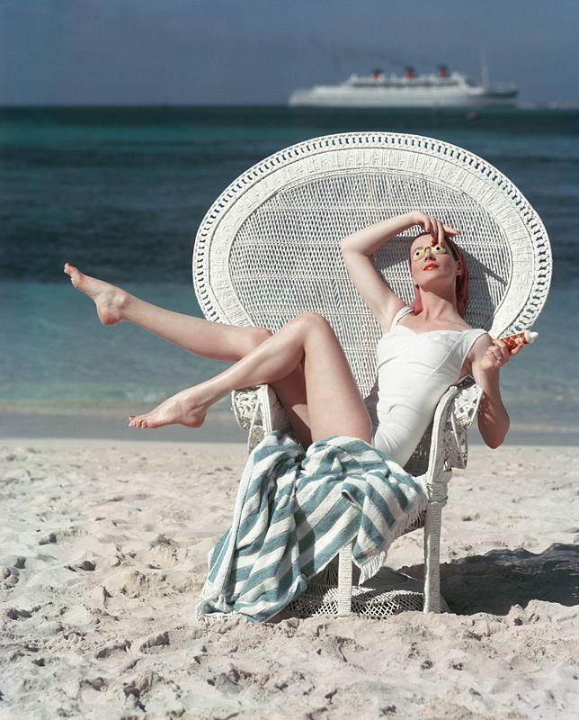 Mark Shaw Photography - White Beach Chair