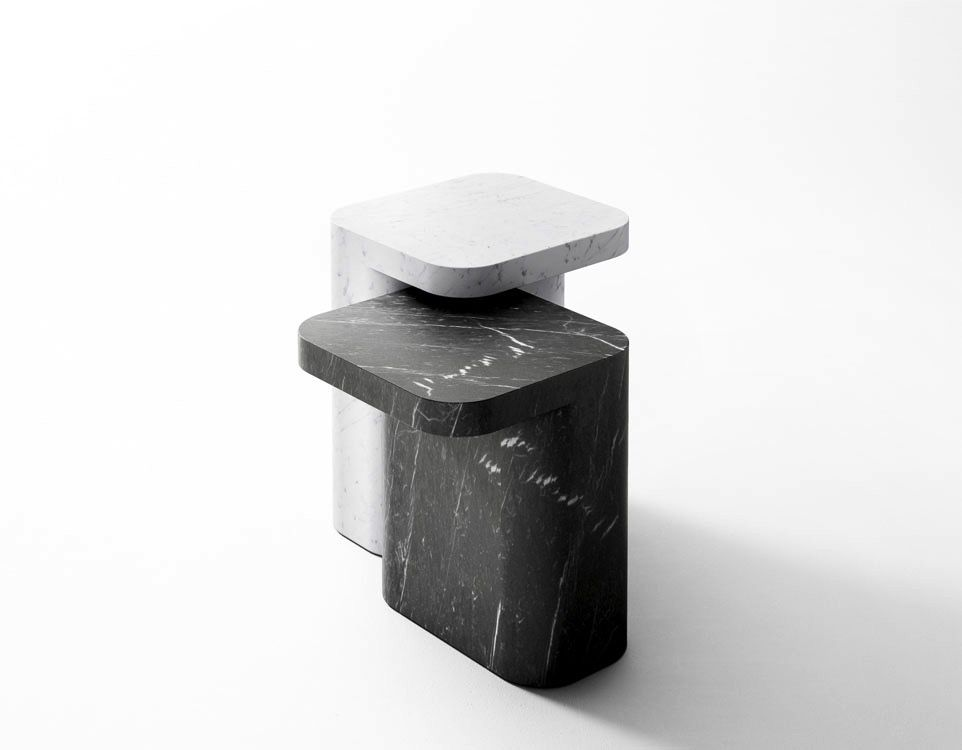Retegui Marble Retegui Marble - Petra Marble Side Table - Two Sizes and Colours Available - Weight approx 110kg