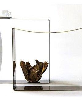 gentner Gentner Design - RIBBON STOOL - Polished Stainless Steel or Darkened Brass