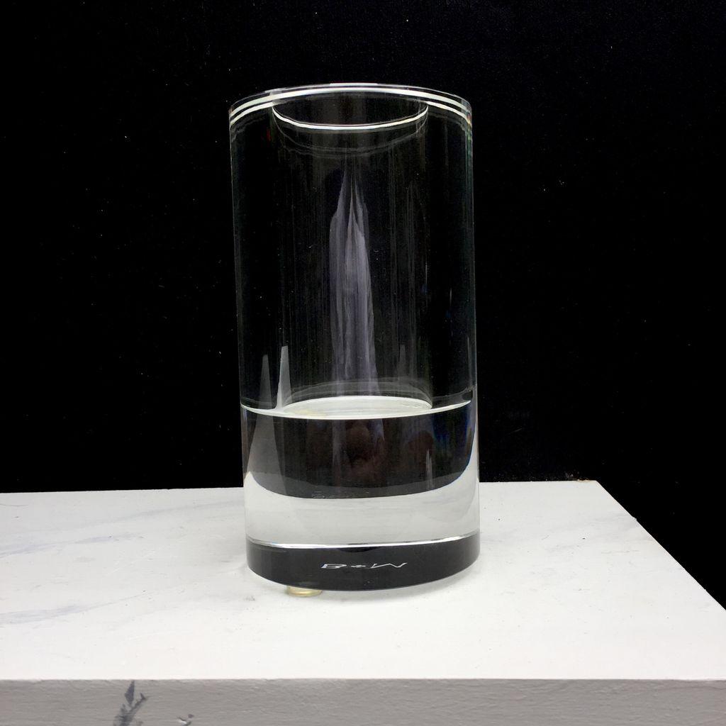 BECKER MINTY BECKER MINTY - Crystal Glass Cylinder Vase - 15x8cm