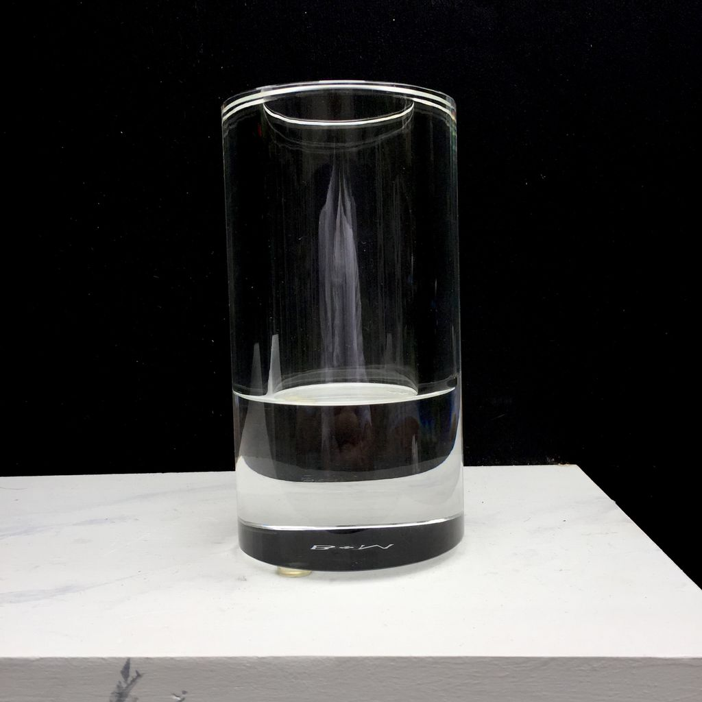 BECKER MINTY BECKER MINTY Tunnel Collection - Cylinder Vase - Crystal Glass 15x8cm