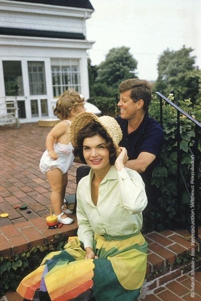 Mark Shaw Photography - Jackie, JFK, Caroline, Hyannis Patio, Colorful Skirt
