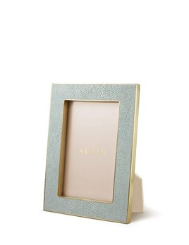 Aerin AERIN - Classic Embossed Shagreen Frame - Mist - 4x6""