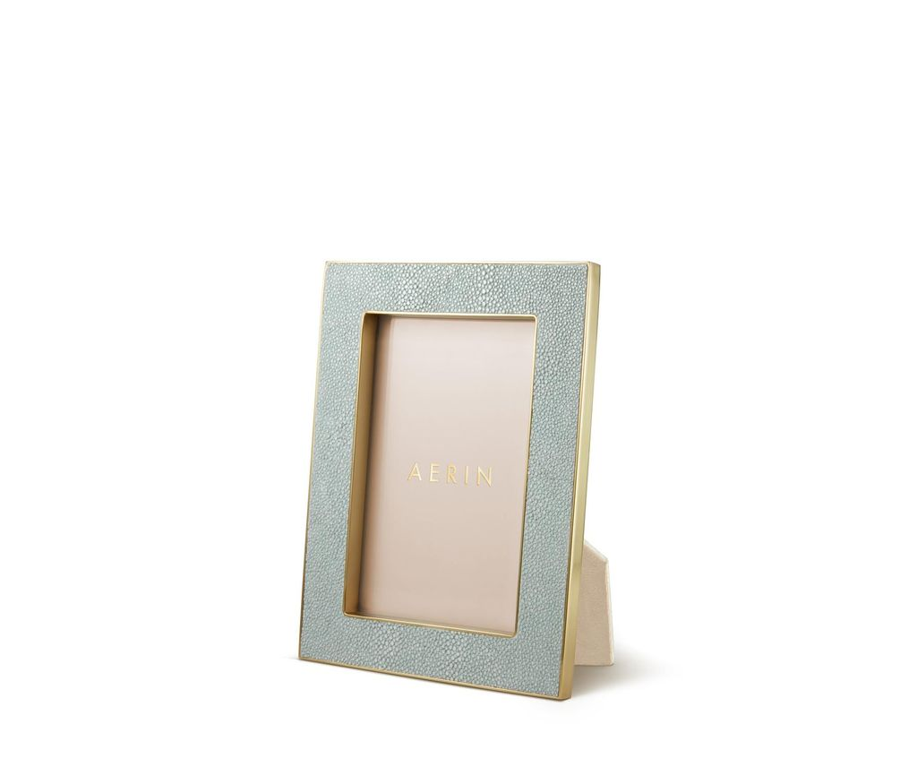 "Aerin AERIN - Classic Embossed Shagreen Frame - Mist - 4x6"""