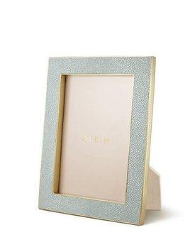 Aerin AERIN - Classic Embossed Shagreen Frame - Mist - 5x7""