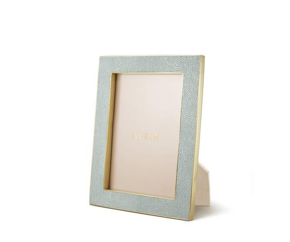 "Aerin AERIN - Classic Embossed Shagreen Frame - Mist - 5x7"""