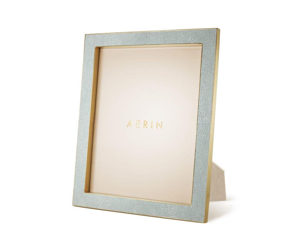 "Aerin AERIN - Classic Embossed - Shagreen Frame - Mist - 8x10"""