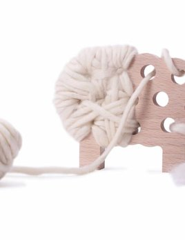 Les jouets Libres Woody - The Sheep - To be Knitted - Cream