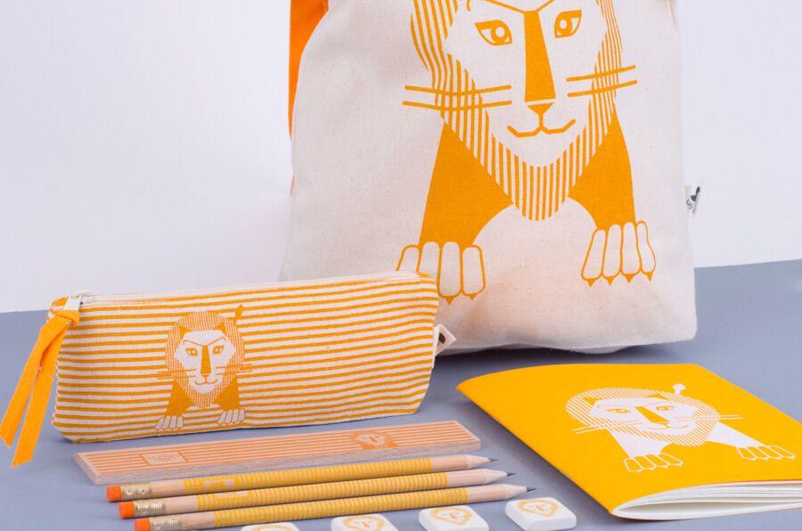 Les jouets Libres LJL Children's School Pack - Lion - Eco
