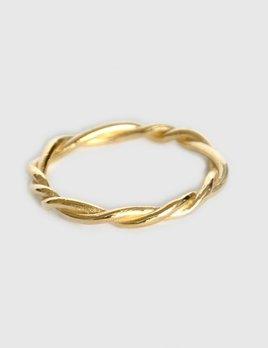 Mia Chicco - Severa Ring - 9ct  Gold Rustic Twist Wire Ring