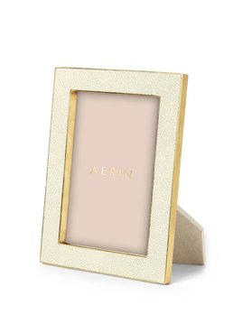 Aerin AERIN - Classic Embossed Shagreen Frame - Cream - 5x7""