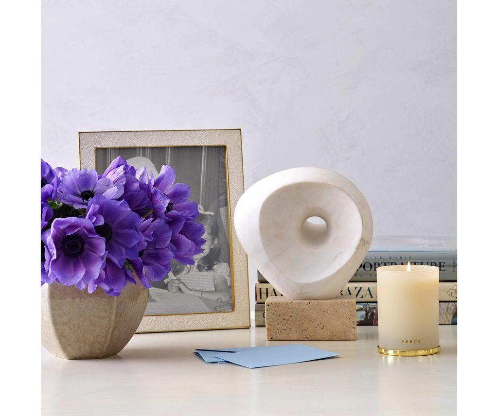 "Aerin AERIN - Classic Embossed Shagreen Frame - Cream - 8x10"""