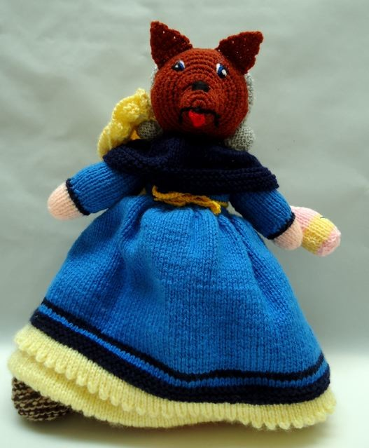 Generic Hand knitted woollen toy with detail - Little Red Riding Hood