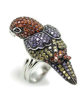 Sally Skoufis - Parrot Ring - Sterling Silver with CZ