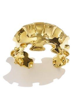 Sarah Magid Sarah Magid - Ruffle Cuff - Brass Gold Plated