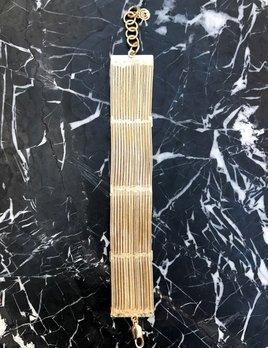 Eneida Franca EF Structured Fringe Bracelet  - Gold Plated Brass - Brasil