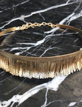 Eneida Franca EF Fringe Choker - Gold Plated Brass - Brasil