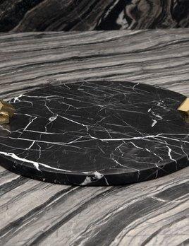 Kelly Wearstler Kelly Wearstler - Acolyte Entertaining Platter - Negro Marquina  Marble
