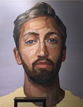 Self Portrait - Nick Lepard - Oil on canvas - Portrait #2 138cm x 168cm (unframed)