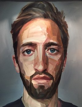 Self Portrait - Nick Lepard - Oil on canvas - Portrait #1 138cm x 168cm (unframed)