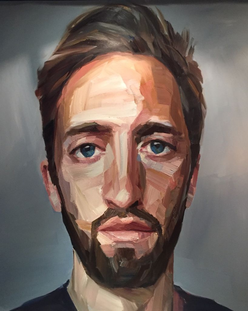 Self Portrait - Nick Lepard - Oil on canvas - Portrait #1 138cm x 168cm (unframed)