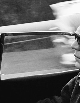 Steve McQueen driving his 1957 XK-SS Jaguar through Nichols Canyon in Hollywood 1960 - Sid Avery
