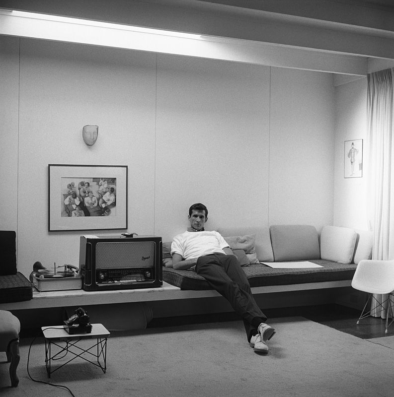Anthony Perkins at home in Los Angeles 1959 - Sid Avery