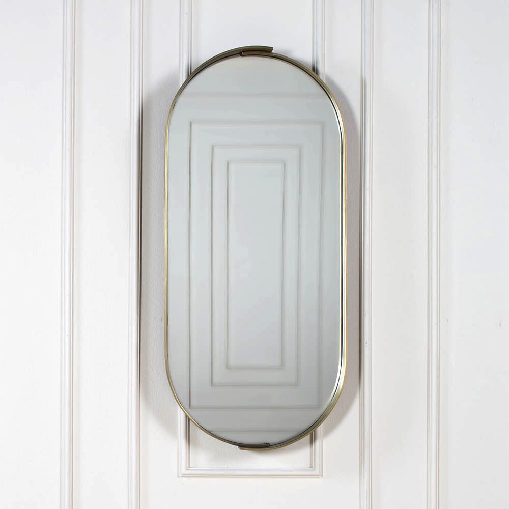 Kelly Wearstler Kelly Wearstler - Alta Racetrack Mirror -  Burnished Brass