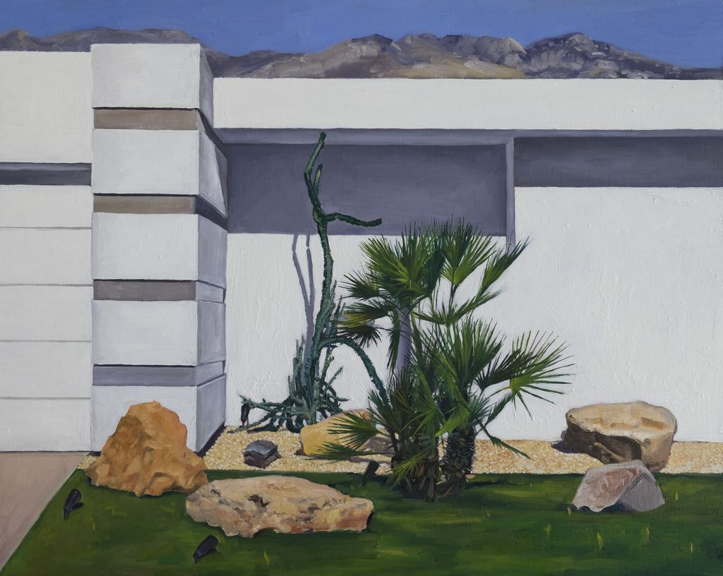 Palm Springs 2017 - James King - Oil on Board - 50x40cm
