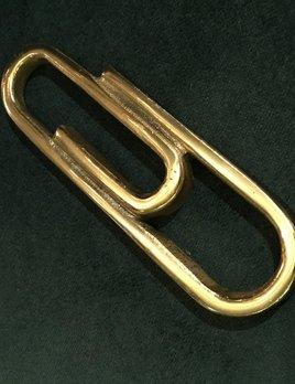 Vintage Brass Paper Clip Sculpture - Paper Weight - L15cm