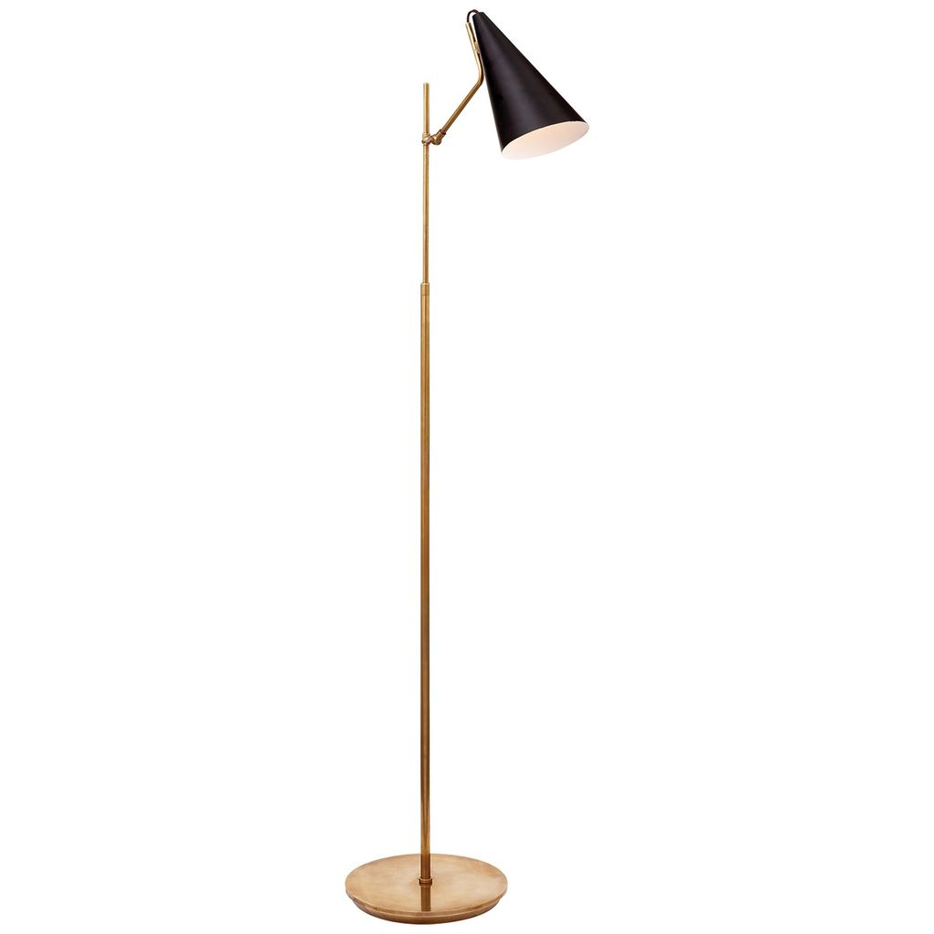 Aerin AERIN - Clemente Floor Lamp in Hand-Rubbed Antique Brass with Black
