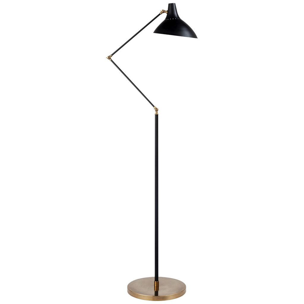 Aerin AERIN - Charlton Floor Lamp in Black and Hand-Rubbed Antique Brass