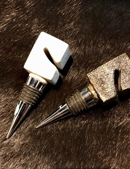 KIFU KIFU - Bottle Stopper - Cream Shagreen - 4cm - Paris (lighter one)