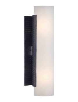 Kelly Wearstler Kelly Wearstler - Precision Cylinder Sconce - Bronze with White Glass