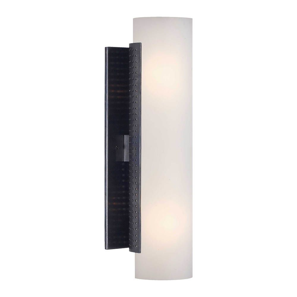 Kelly Wearstler Kelly Wearstler - Precision Tube Sconce - Bronze with White Glass