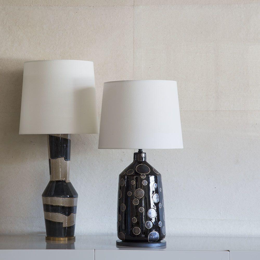 Kelly Wearstler Kelly Wearstler - Bijou Table Lamp - Black and Crystal Bronze Dot