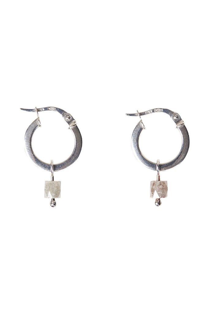 Olly Rose Cigar Diamond And 18ct White Gold Earrings Australia