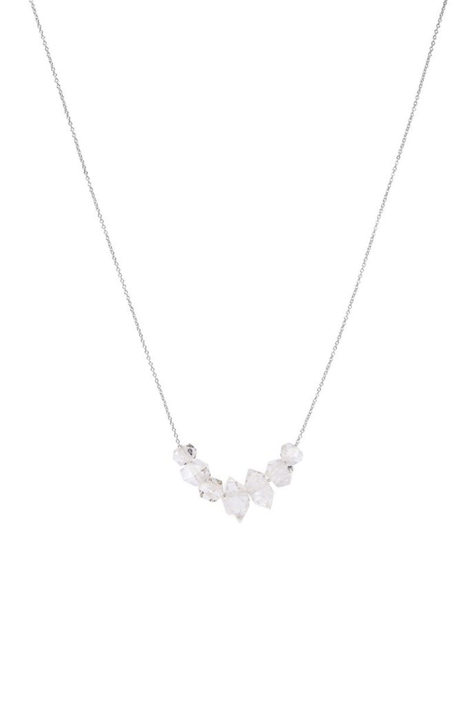 Olly & Rose - 5 large Herkimer Diamond and 18ct White Gold Necklace - Australia